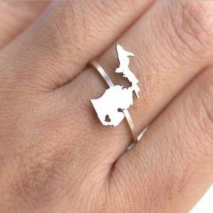 Michigan Silver Ring